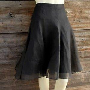 Banana Republic Black Organza Silk Skirt - size 4
